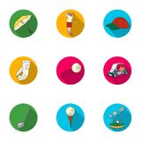 Golf club set icons in flat style. Big collection of golf club vector symbol stock illustration Royalty Free Stock Photo