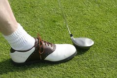 Golf Club And Shoe Stock Photo