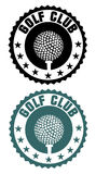 Golf club stamp Royalty Free Stock Image