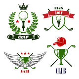 Golf club or tournament heraldic emblems Stock Photos