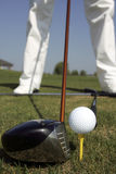 Golf club und ball Stock Images