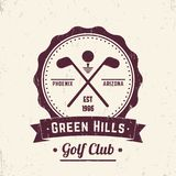 Golf club vintage logo, emblem, badge. Eps 10 file, easy to edit Royalty Free Stock Photos