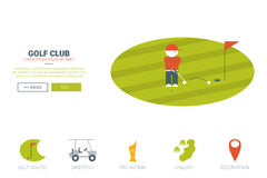 Golf club website concept Stock Images