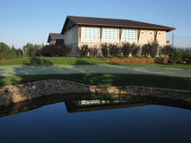 Golf Clubhouse Lakeside Stock Photography