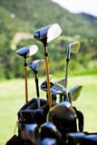 Golf clubs. Bunch of golf clubs in the bag stock image