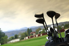Golf clubs Stock Image