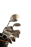 Golf clubs. Isolated on white royalty free stock image