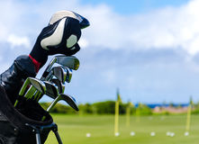 Golf clubs background Royalty Free Stock Image