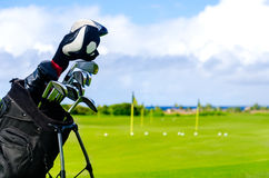 Golf clubs background Royalty Free Stock Photos