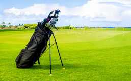 Golf clubs background Royalty Free Stock Images