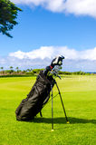 Golf clubs background Stock Image