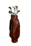 Golf clubs in bag Stock Photos