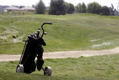 Golf clubs bag Stock Images