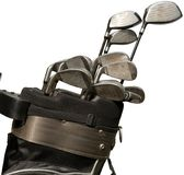 Golf Clubs in a Bag on Golf Course Royalty Free Stock Image
