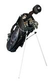 Golf-clubs in a bag isolated royalty free stock photos