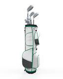Golf Clubs and Bag Isolated Royalty Free Stock Photo