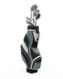 Golf clubs and Bag Royalty Free Stock Photo