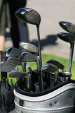 Golf clubs in the bag Royalty Free Stock Image
