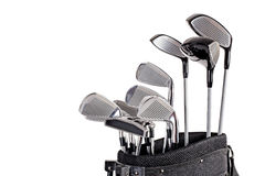 Golf clubs in bag up close