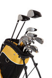 Golf clubs and bag on white. Golf clubs and bag on a white background stock image