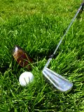 Golf clubs and ball Stock Photography
