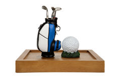 Golf Clubs and Ball Royalty Free Stock Photography