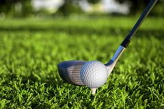 Play golf for health and meditation stock image