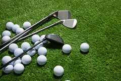 Golf clubs and balls Royalty Free Stock Photos