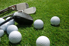 Golf clubs and balls Royalty Free Stock Image