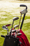 Golf clubs closeup Royalty Free Stock Photos