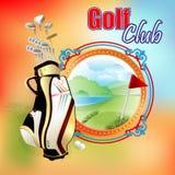 Golf Clubs design template Royalty Free Stock Photos