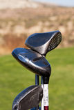Golf Clubs. Driver, Wedge, Putter Royalty Free Stock Images