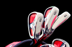 Golf clubs. Entry-level golf clubs for beginners Stock Photo