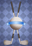Golf clubs with golf ball Stock Images
