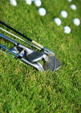 Golf clubs and golf balls Royalty Free Stock Image