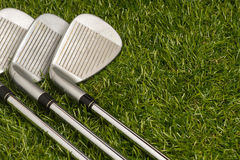 Golf clubs or golf irons Royalty Free Stock Image