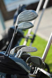 Golf clubs in golfbag Royalty Free Stock Photos