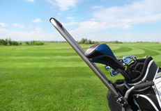 Golf clubs in golfbag Stock Image