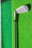 Golf clubs on the grass Royalty Free Stock Photo