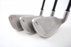 Golf Clubs Isolated Royalty Free Stock Images