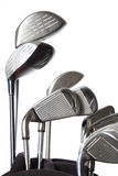 Golf clubs. Isolated on white background Stock Photography
