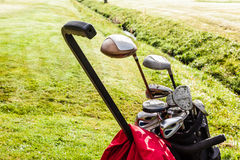 Golf clubs set Stock Photos