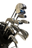 Golf Clubs on white. Full Set of modern golf clubs on white background royalty free stock images