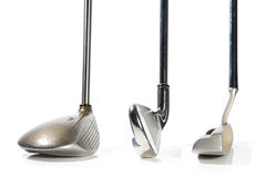 Golf clubs. On white background Stock Photo