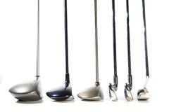 Golf clubs. On white background stock photography