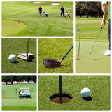 Golf collage. A collage of golf photos Royalty Free Stock Photos