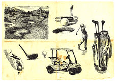 Golf collection royalty free illustration