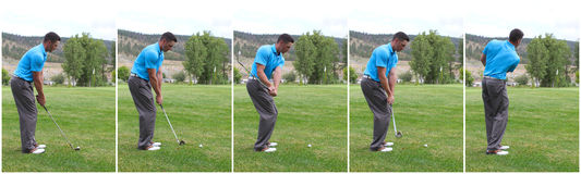 golf combo huśtawka Obrazy Royalty Free
