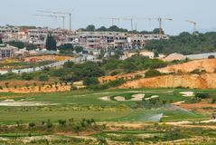 Golf Complex Construction Stock Photo