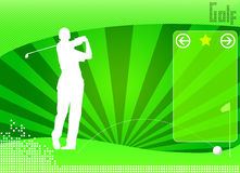 Golf concept background vector Stock Photo